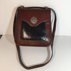 Brighton Leather Purse with Metal Buckles